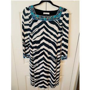 NEW Emilio Pucci Zebra-Print Crepe-Jersey Dress 36